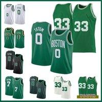 Jayson 0 Tatum Jaylen 7 Kahverengi Paul 34 Pierce Vintage Erkek Çocuk Basketbol Formaları Şehir Larry Ray 20 Allen Kevin 5 Garnett Yeşil Beyaz Retro Gömlek
