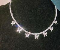Choucong Уникальный бренд хип-хоп Лучшие продажи Винтажные ювелирные изделия 925 серебряный залив полный круглый нарезанный белый TOAPAZ CZ Diamond Party Tennies цепь женские мужчины ожерелье для подарка