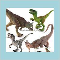 50% Jurassic Park Dinosaur World Model Toys Toy Posture Niu Long Double Crown Dragon Raptor Movable Halloween Supplies Children Kids T Okbc3