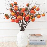 Dekorativa Blommor Kransar 80cm Konstgjorda Frukt Granatäpple Berry Fake Blomma Stor Lång Branch För Hem Trädgård Flores Fruktträd