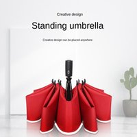 Umbrellas Umbrella Male Car Reverse Inverted Stand Automatic Windproof Strong Day Uv Beach Sunshade Large Golf
