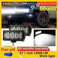 Working Light 7 Inch E7 120W LED Work Car 6000LM DC Modified Top With Four Rows Of Bars For Off-road Pickup Trucks