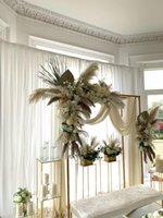Festa decoração grande ferro quadro quadro flor mesa plinth metal casamento arco balão fundo fundo pano de fundo brilhante ouro sta