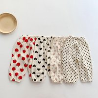 Trousers 2021 Autumn Spring Born Baby Pants Girl Boy High Waist Leggings Cotton Clothes Toddler Clothing Infant Kids PP