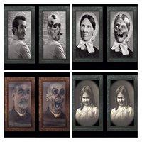 2021 Halloween Party Supplies Bar Bar 3D Ghost Festival Cambiar imagen Marco Imágenes Álbum Precios decorativos Pendientes de pared Horror Secret Room Escape Game