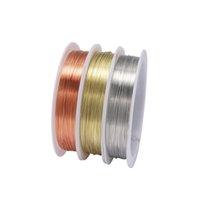 1ロール頑丈な金合金銅線DIA 0.2 0.3 0.4 0.5 0.6 0.7 0.8 1 mmの糸金属弦線のための金属製の紐