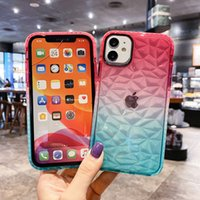 3D Gradient Diamond Pattern Phone Case For iphone 13 12 Fundas Clear Cover For iphone 13 11 Pro max 12 7 Plus 8 6 6s X XS Max XR Capa