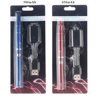 1 teile / los Evod trockene Kräuter-Verdampfer E-Zigarette 650mAh 900mAh Batterie VAVE vor dem Vaporizer Stift Ecigaretten Kräuterblasen-Kits