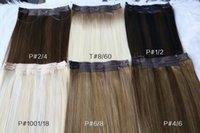 Cheveux humains de halo personnalisés avec fil transparent sans soudure et 3 clips sur extensions 10.5inch largeur de largeur blonde blonde