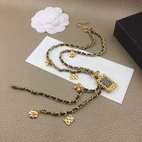 2020 Donne di marca Vintage Profumo Pendenti Pendenti Pendenti Perle Catena Collana Party Fine Fashion Jewelry