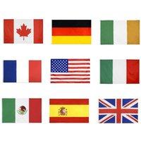 국립 국기 모든 국가 90x150cm 미국 미국 영국 United Jack Germany 프랑스 이탈리아 아일랜드 멕시코 캐나다 스페인 플래그 owD8433