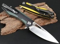 Top Quality Flipper Folding Knife D2 Satin Blade Two-tone G10 + Stainless Steel Handle Ball Bearing Fast Open EDC Pocket Knives