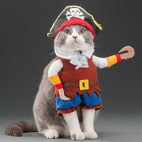Cat Cosplay Suit For Cats Clothes Firecrackers Corsair Cowboy Cute Costumes Pirate Things Fancy Kitty Funny Dog Hat Accessories