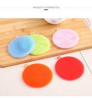 Cucina multifunzionale Spazzola per lavastoviglie Silicone Silicone Cassaforte Non-Stick Oletico Salviettone Isolamento termico Pads Coasters Brushes KKB7653