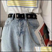 Cinturones Aessories Aessiesors Campos de la Cadena Punk Cinturón de Moda Ajustable Cintura Ajustable con Ojal Se Sencillo Drop Entrega 2021 D2ELT