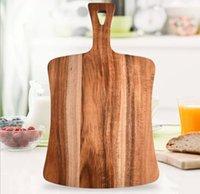 جودة عالية أكاسيا كتل قطع الخشب، والخبز العادي على الوجهين العملي مع مقبض بيضاوي