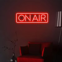 """Other Event & Party Supplies """"ON AIR"""" Neon Sign Custom Light Led Pink Home Room Wall Decoration Ins Shop Decor"""