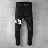 2020 Giyim Pantolon Erkekler Kadın T Shirt Panter Baskı Ordu Yeşil Yıkılan Erkek Ince Denim Düz Biker Skinny Jeans Erkekler Amir12