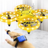 Four-Axis Induction Drone Simulators Smart Watch Remote Sensing Gesture RC Aircraft Somatosensory Noctilucent Interaction Remoting Control Toys