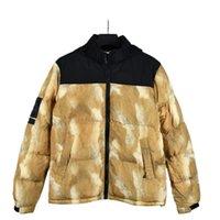 Erkek Stylist Ceket Yaprakları Baskı Parka Ceket Erkekler Kadınlar Kış Palto Aşağı Ceket Boyutu S-2XL JK005