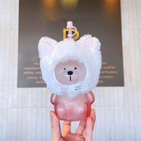 Starbucks Cherry Blossom Mugs Bear Glass Straw Cup Cat Head Set Creative Lovely Drinking Coffee Cups For Women Gift