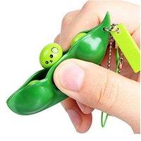 Schlüsselanhänger unbegrenzt Mobiltelefonbänder Erdnuss Anti Stress Relief Kugeln Spielzeug Squeeze Erbsen Zappeln Dekompression Spielzeug Erbsen Pod Lustige Keychain Süß
