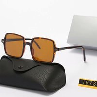 Quadratische Rahmen suanglasses Womens Herren Sonnenbrillen Die hellen Farblinsen UV380 Brillen Männer Sommerbrillen mit Kasten