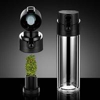 Pinkah içme fincan 2-katmanlı yüksek borosilikat cam çay filtresi zıplatma kapağı 380 ml sızdırmaz seyahat su şişesi şarap bardakları