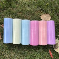Farbe in der Sonne ändern 20 oz Sublimation Skinny Gerade Tumbler Großhandel Edelstahl Wasserflasche Trinkmilch Tassen Wärmeübertragung doppelt isolierte Becher A12