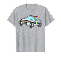 Полиция отвечает автомобиль COM транспортные средства мальчики мужчины футболка