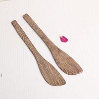 Couteau de masque en bois Wengé Couteau de beurre de style japonais Marmalade Couteau Couteau Dumpling Crème Couteaux en gros OWF7639