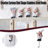 Hooks & Rails 1PC Wall Door Cartoon Chef Shape Stainless Steel Clothes Coat Hat Hanger Cute Kitchen Rustproof Towel Hook