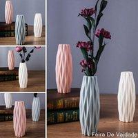 Çiçek Vazo Beyaz İmitasyon Seramik Pot Dekorasyon Ev Plastik Vazolar
