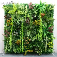 40x60cm 3D Green Artificial Plants Wall Panel Plastic Outdoor Lawns Carpet Decor Wedding Backdrop Party Garden Grass Flower Wall