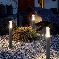 7pcs 27cm Style Waterproof LED Garden Lawn Lamp Modern Aluminum Pillar Light + 70 Dollars Fedex Cost Lamps