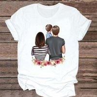 Women's T-Shirt T-shirts Women Flower Printing Family Love Mother Mom Mama Fashion Clothes Graphic Tshirt Top Lady Print Female Tee