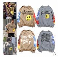 Kanye West Graffiti impresa con capucha con capucha de algodón suéter suéter jersey hombres sueltos mujeres servicio santo espíritu cpfm otoño 02 y44o #