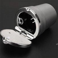 Aluminiumlegierung Auto Aschenbecher mit Abdeckung rauchlosen LED Multifunktions-Asche-Fach-Gold-Silber-Plattierung Rauchen Zubehör Kreatives neues DWF5973