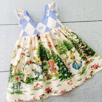 Pudcoco Kids Baby Girls Christmas Cartoon Dress Flying Sleeves Vestidos Princess Party Tutu 1373 Y2