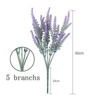Wedding Decoration Artificial Flowers Lavender 1 Bouquet 5 Branchs For Birthday Party And Home Decor Fake Plant Sun Flower Decorative & Wrea