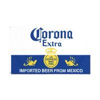 Fábrica directa al por mayor doble cosido de doble costura de 3x5fts 90 * 150cm Bandera de la bandera de la cerveza de Corona para la decoración HWD5680