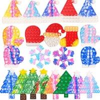 크리스마스 팝 Fidget 장난감 프레스 버블 포퍼 어린이 감압 장난감 산타 클로스 카모 크리스마스 트리 장갑 어린이 감각 퍼즐 짜내 장난감 2022 G69PFN9