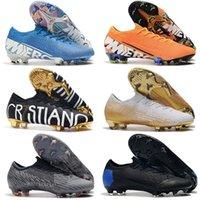 Original Black CR7 13 Elite 360 Mercurial Superfly V FG Soccer Shoes C Ronaldo 7 Nuovo Paquete Blanco Hombre Pleats de fútbol