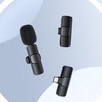 Microfoons M12 Draadloze microfoonsysteem met oplaadbare zender Reaveiver Reversel Lavalier voor smartphone-computer