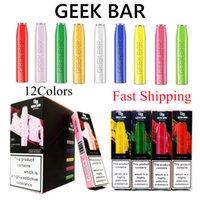 Geek Bar Descartável Vape Pen E Cigarros 575Puffs 350mAh Bateria 2ml POD 12 Cores Rápido Navio Atacado