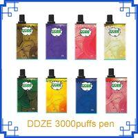 정통 DDZE 일회용 vape 펜 1500mAh 배터리가있는 DDvapor 장치 11ml 포드 카트리지 3000Puffs 증기 키트 에어 바 럭스 Posh Plus Dazzle King