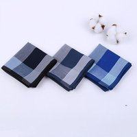 100% algodón hombres cuadrados Sweat Sweat Handkerchiefs Men's Classic Lattice Pattern Vintage Pocket Hanky Hand Towel 43 x 43cm FWD9474