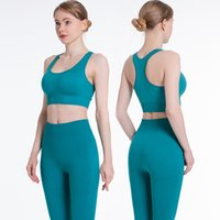 Lulu Legging Style European and American Seamless Yoga Suit Knitted Yoga Vest Sexy Sports Bra Hip Tights Workout Clothes for Women