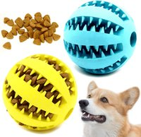 Dogging di cane giocattoli palle durevoli durevoli cani iq puzzle masticazione per cucciolo piccolo grande doggy denti pulizia masticare giocando a trattamento di trattamento 7 cm 5 colori blu