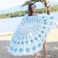 150 cm Round Beach Asciugamano Yoga Coperta Tappetino Macrame Macrame Picnic Propriezza Prodotto da donna Costumi da bagno per donna musulmana di Natale